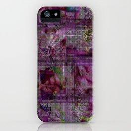 Gridwork or Writing on the Wall iPhone Case