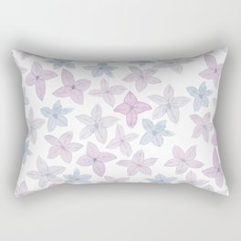 Watercolor hand painted lavender lilac blue floral Rectangular Pillow