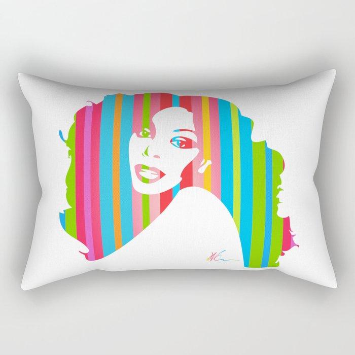 Donna Summer | Pop Art Rectangular Pillow