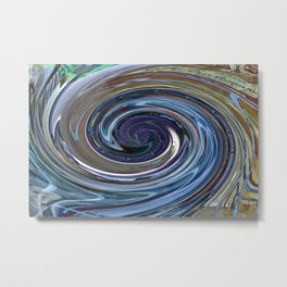Abstract BLUE Impression Metal Print