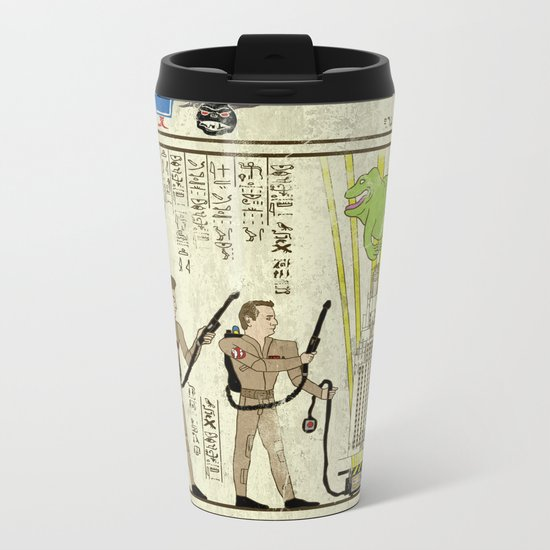 hero-glyphics: Slimed Metal Travel Mug