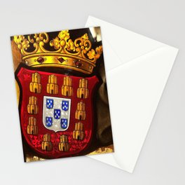 Royal arms in stained glass Stationery Cards