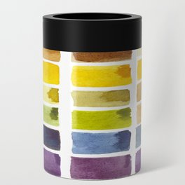 Watercolor Rainbow Tile Can Cooler