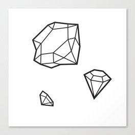 Shape of Gems Canvas Print