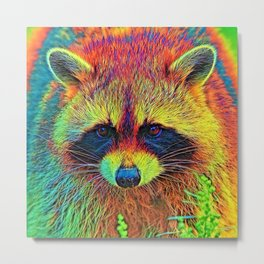 AnimalColor_Racoon_002 Metal Print