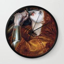 Joan of Arc 1882 by Gabriel Rossetti Artwork for Wall Art, Prints, Posters, Tshirts, Men, Women, Kids Wall Clock