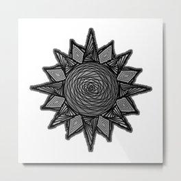 Goth Sun on White Metal Print