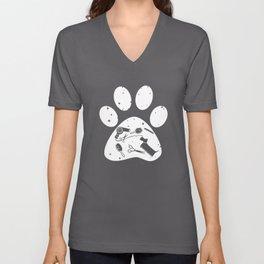 crewneck dog t-shirts Unisex V-Neck