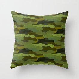 Khaki camouflage Throw Pillow