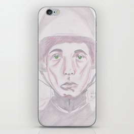 WWI soldier in red and green iPhone Skin