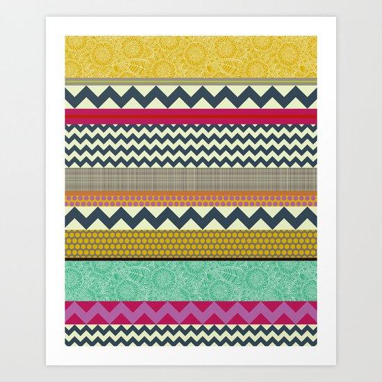 New York Beauty stripe Art Print