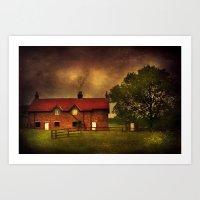 farm Art Prints featuring Farm by Svetlana Sewell