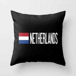 Netherlands: Dutch Flag & Netherlands Throw Pillow