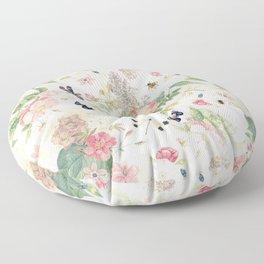 Vintage & Shabby Chic - Botanical Flower Roses Garden Floor Pillow