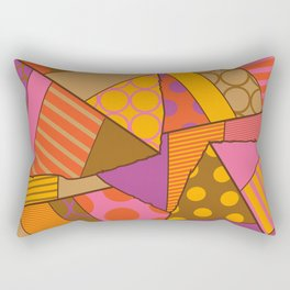 Graphic Leaf Patchwork (Fall Bold Colors) Rectangular Pillow
