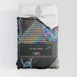 Error Tab Vaporwave Comforters