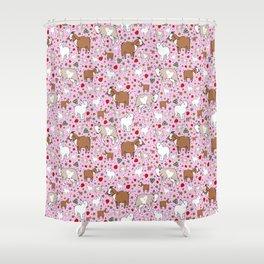 Cute Goat Design Shower Curtain