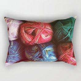 Balls of Yarn Rectangular Pillow
