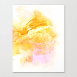 Pollen Watercolor Canvas Print