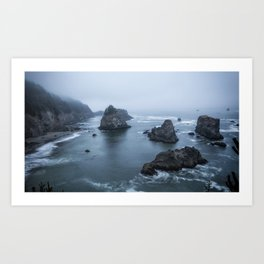 Between Dawn and Sunrise at Arch Rock Picnic Area, No. 2 Art Print
