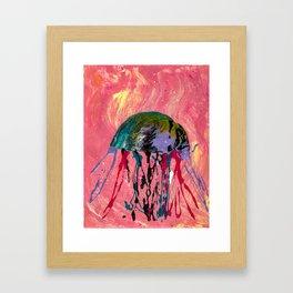 Jammin' Jellyfish Framed Art Print