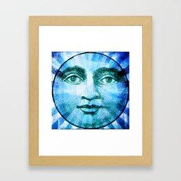Vintage Moon Face Framed Art Print