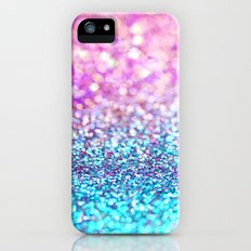 Pastel sparkle- photograph of pink and turquoise glitter iPhone (5, 5s) Slim Case