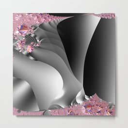 Black and white with embellishments Metal Print