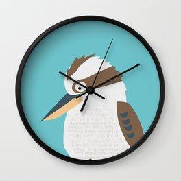 Kooky Kookaburra Wall Clock
