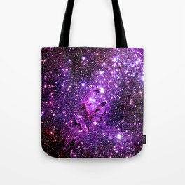 Purple Galaxy Eagle Nebula Tote Bag