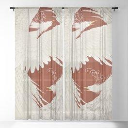 12,000pixel-500dpi - Japanese Modern Interior Art #143 Sheer Curtain