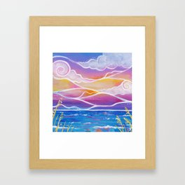 cotton candy sunset Framed Art Print