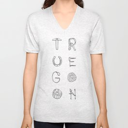 True Goon-Letters as Objects Unisex V-Neck