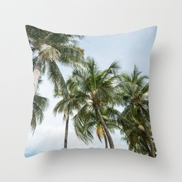 tropical palm tree Throw Pillow