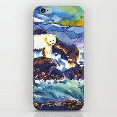 Sunset ♥ Bear iPhone & iPod Skin