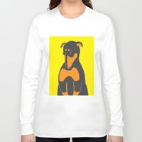 doberman Long Sleeve T-shirts featuring Doberman by ununuctio