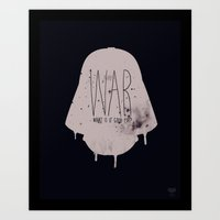 war Art Prints featuring WAR by Vaughn Pinpin
