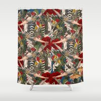 anatomy Shower Curtains featuring ANATOMY: CIRCUS  by MANDIATO ART & T-SHIRTS