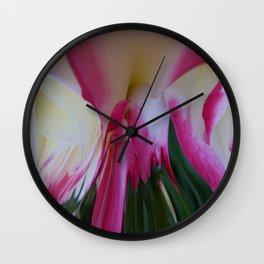 Pink Rose Abstract Wall Clock