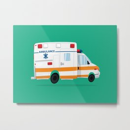 Cute Ambulance Metal Print