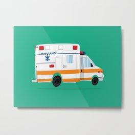 Cute Ambulance Metal Print