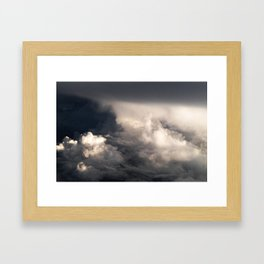Clouds Above Atlantic Ocean Framed Art Print