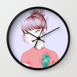 cactus heart i Wall Clock