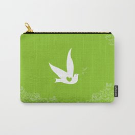 Love and Freedom - Green Carry-All Pouch