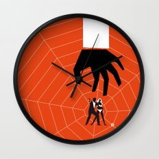 Orange Dr No Wall Clock