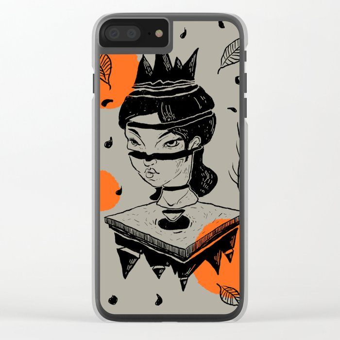 queen Clear iPhone Case