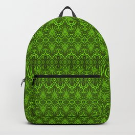 Emerald Damask Pattern Backpack