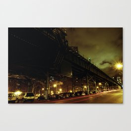Track Darkness on Cold Cloudy Night Canvas Print
