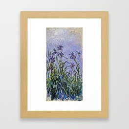 Claude Monet  -  Iris Mauves Framed Art Print