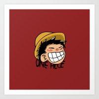 luffy Art Prints featuring Luffy by Paucibet